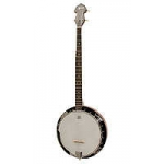 Ozark 5 string banjo. Wood rim. Inc Gig bag.